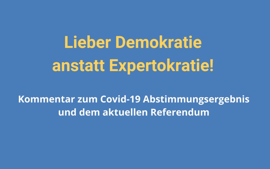 Lieber Demokratie anstatt Expertokratie!
